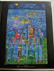 Friedensreich Hundertwasser Poster Yellow Ships Sea of Tunis and Taormina 14x11