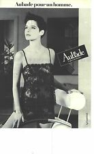 PUBLICITE ADVERTISING  1985  AUBADE lingerie body vetements de nuit