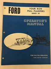 Ford Tractor Series 311 Four Row Pull Planters Operator's Manual
