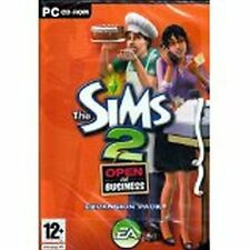 Sims 2 Open For Business Expansion Pack PC game in case w/ manual & Code