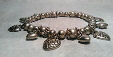 Bead Heart metal bracelet stretchable