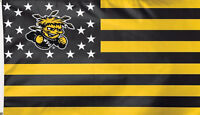 Wichita State University Shockers Deluxe Grommet Flag WSU NCAA Licensed 3' x 5'