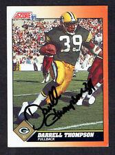 Darrell Thompson #454 signed autograph auto 1991 Score Football Trading Card