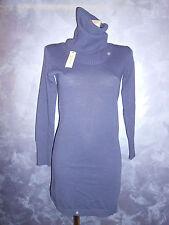 abito vestito viola  invernale m/lunga collo alto  s 42