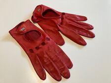 Autofahrer Lederhandschuhe für Damen, von ROECKL, Größe 7, rot