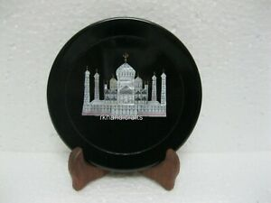 06 Inch Marble Decorative Plate Elegant Corporate Gift Plate with MOP Inlay Work