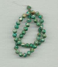 """NEVADA FOX MINE BOULDER TURQUOISE 9MM ROUNDED CUBE BEADS - 16"""" Strand - 383D"""