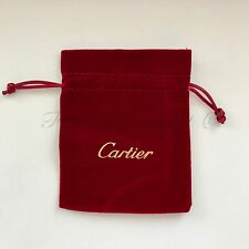 "CARTIER Med Velvet Jewelry Pouch Bag L: 4"" x H: 5"" for Rings Necklaces Bracelets"
