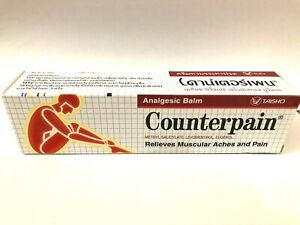 120g COUNTERPAIN RELIEVES MUSCULAR ACHES AND PAINS, ANALGESIC BALM