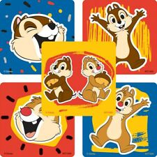 "25 Chip and Dale Stickers, Assorted, 2.5"" x 2.5"" each, Party Favors"