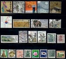New ListingSouth Korea - 22 all different used stamps off paper, #1974 full set + many more