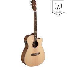NEW J.N Guitars Asyla Series Auditorium Cutaway Acoustic Electric Guitar Natural
