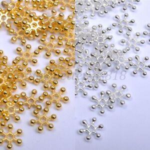 200Pcs Silver & Golden FLOWER DAISY Spacer BEADS - Choose 6MM,8MM,10MM