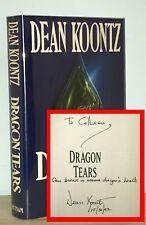 Dean Koontz - Dragon Tears - SIGNED 1st 1st HCDJ - Beautiful Copy - NR