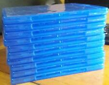 Set of 10 New, Empty, Blue, Blu-ray Double (holds 2 discs) DVD Replacement Cases