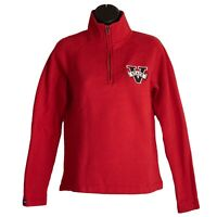 Womens Jansport Valdosta State Red Quarter 1/4 Zip Pullover Sweater Size S