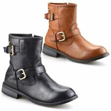 Faux Leather Medium Width Shoes for Girls Buckle