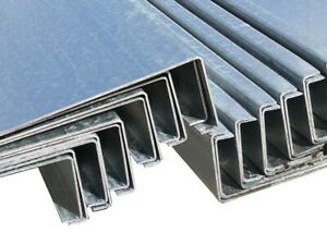 Z Purlin Steel Sheeting Rails Made To Custom Lengths 175mm Deep, 1.8mm Thickness