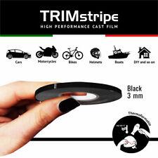 Trim Stripes Strisce Adesive per Auto, Nero, 3 mm x 10 Mt