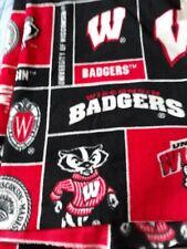 Fleece Fabric-University Of Wisconsin Badgers- New- 2 Yards + 24 Inches