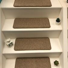 14 Carpet Stair Case Treads Stain Free earth wool Pads 14 Large Pads