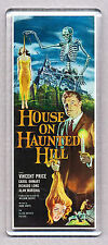 HOUSE ON HAUNTED HILL - WIDE FRIDGE MAGNET  -  VINCENT PRICE Horror Classic!