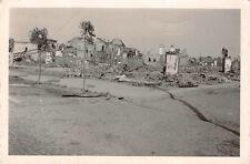 Zerstörte Häuser nach deutschen Angriff Kowel Ostfront