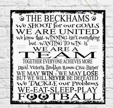 Personalised Football House Rules Plaque Family Husband Son Mum Dad Brother Gift