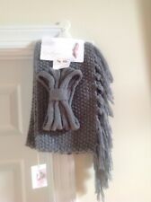 Jessica Simpson Scarf Headband 2pc Loop Knit Set Lt Gray ,NWT