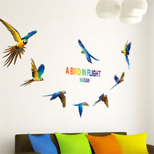 Art flying parrot wall sticker removable cute wall decals home decoraGT