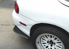 Rear Bumper Spat Splitter Add on For Mazda MX5 Miata NB Carbon Fiber