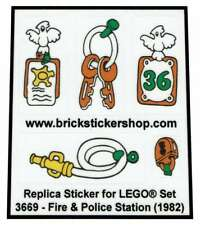 Precut Custom Replacement Stickers voor Lego Set 3669 - Fire & Police Station (1