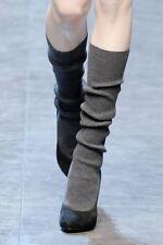 Sz 36.5 Dolce Gabbana suede high heels boots hidden platform pre-loved