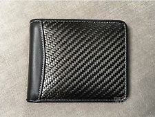 Real Carbon Fiber Leather Wallet WHITE Stitches ID FOR men women civic dc2 s13