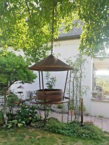 Vogeltränke Vogelbad Insekten Futterstelle Futterplatz Vogelhaus  Rost Optik