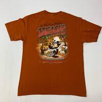 "Disney Mens Large Orange Short Sleeve T-Shirt ""Fab Four's Florida Beach Club"""
