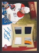 2011-12 Panini Prime Rookies Hologold Patch Auto #130 Blake Geoffrion 17/25
