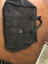 BAGGALLINI Black Quilted Nylon RFID Large Varsity Travel Luggage Duffel Bag Tote