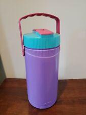 Vintage Thermos Water 1.5 qt. Jug Purple & Pink Flip Lid-Model 7948 w/ Handle