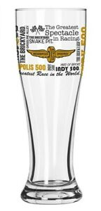 Indianapolis Motor Speedway Collector Spirit Pilsner Glass Indy 500 Brickyard400