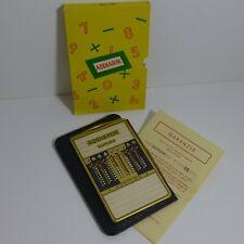 Addiator Duplex Messing mit schwarzem Lederetui, Mint,  Calculator ca 1970