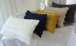 Home Mix & Match Cotton Fringing Rectangle Home Decor Pillow Cushion Cover 30x50