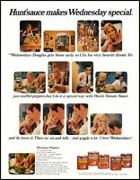 1970 Hunt's tomato sauce Wednesday special photo storyboard Print Ad  adL28