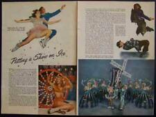 """Ice Follies 1947 """"Putting a Show On Ice"""" pictorial"""