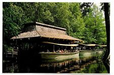 Florida's Silver Springs Jungle Cruise Postcard Fort King Waterway Electric Boat