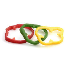 """Cci Industries V615-02 Yellow Artificial Bell Pepper Rings - 3-5/6""""Diam.x1/2"""" ;H"""