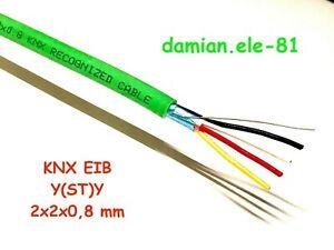 BUSLEITUNG KABEL Leitung Installation KNX EIB-Y(ST)Y 2X2X0,8 grün BUS