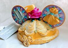 Disney Parks Hand Painted Belle Mouse Ears Ornament New w/tags, retired