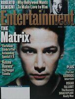 KEANU REEVES - THE MATRIX April 9, 1999 ENTERTAINMENT WEEKLY Stanley Kubrick