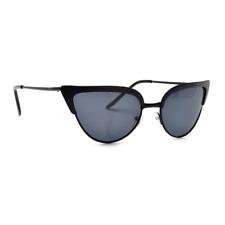 SUNGLASSES Women's CAT EYE Black Frames Gray Lenses 100% UV400 Protection